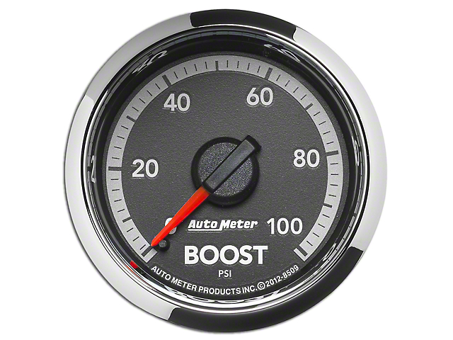 Auto Meter Factory Match Boost Gauge - 0-100PSI - Mechanical (09-18 RAM 1500)