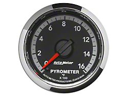 Auto Meter Factory Match Pyrometer Gauge; 0-1600 Degrees; Digital Stepper Motor (09-18 RAM 1500)