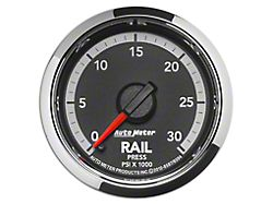 Auto Meter 0-30K PSI Fuel Rail Pressure Gauge; Digital Stepper Motor (Universal; Some Adaptation May Be Required)