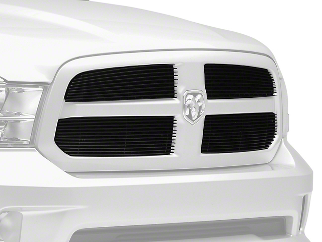 T-REX Billet Series Upper Overlay Grilles - Black (13-18 RAM 1500, Excluding Rebel & Sport)
