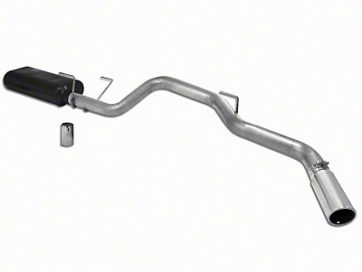 Flowmaster American Thunder Stainless Steel Single Exhaust System - Side Exit (04-05 5.7L RAM 1500)