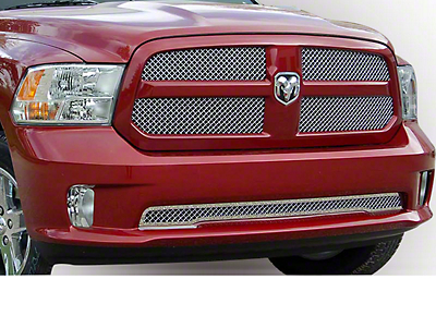 E&G Heavy Mesh Upper Grille Insert - Chrome (13-18 RAM 1500, Excluding Rebel)