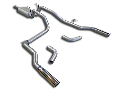 Flowmaster American Thunder Aluminized Steel Dual Exhaust System - Side/Rear Exit (03-08 5.7L RAM 1500)