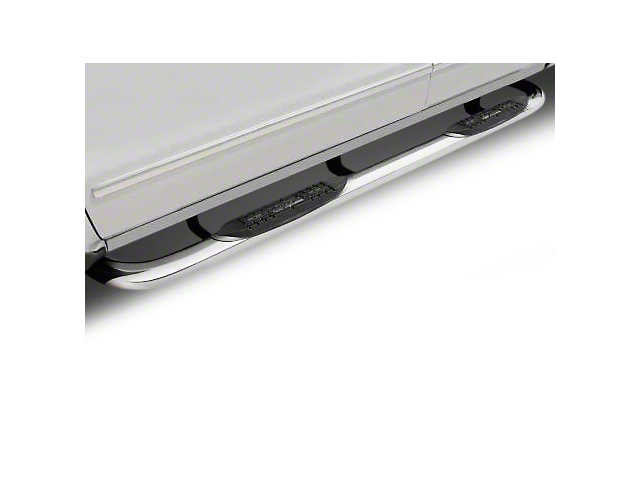 Raptor Series 3 in. Round Nerf Side Step Bars - Polished Stainless (02-08 RAM 1500)