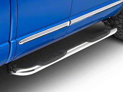 Raptor Series 3 in. Round Nerf Side Step Bars - Polished Stainless (09-18 RAM 1500)