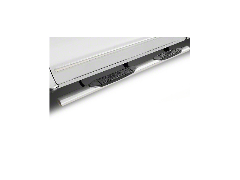 Raptor Series 4 in. Cab Length Oval Side Step Bars - Polished Stainless (02-08 RAM 1500 Regular Cab, Quad Cab)