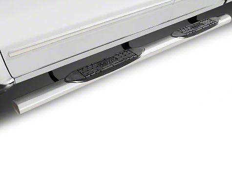 Raptor Series 4 in. Cab Length Oval Side Step Bars - Polished Stainless (02-08 RAM 1500 Regular Cab, Quad Cab)