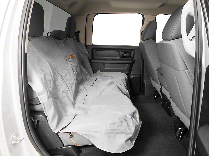 Extended Width Wander Rear Bench Seat Cover - Charcoal - 63 in. wide (02-19 RAM 1500 Quad Cab, Crew Cab, Mega Cab)