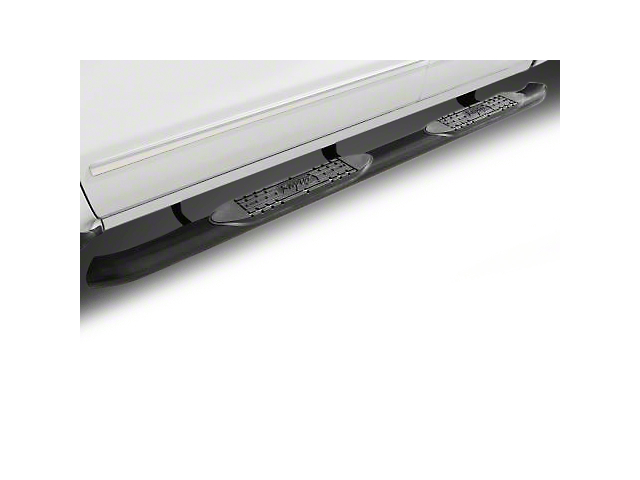 Raptor Series 5 in. OE Style Curved Oval Side Step Bars - Black (02-08 RAM 1500 Regular Cab, Quad Cab)