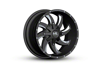 Hardrock Offroad H700 AFFLICTION Black Milled 5-Lug Wheel - 20x10 -19mm Offset (02-18 RAM 1500, Excluding Mega Cab)