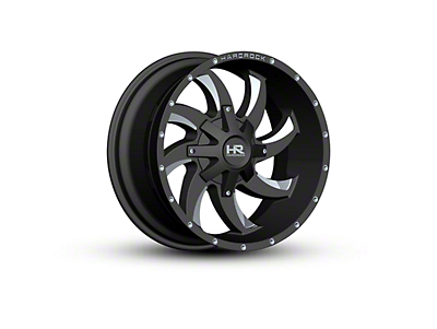 Hardrock Offroad H701 DEVIOUS Black Milled 5-Lug Wheel - 20x10 (02-18 RAM 1500, Excluding Mega Cab)