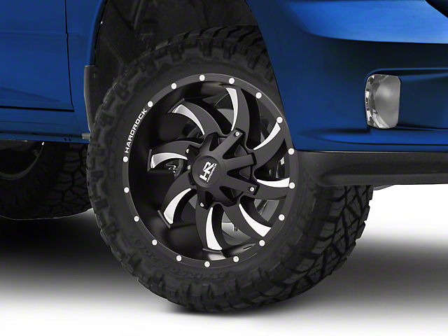 Hardrock Offroad H701 DEVIOUS Black Milled 5-Lug Wheel - 20x9 (02-18 RAM 1500, Excluding Mega Cab)