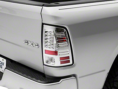 Alteon Crystal Clear LED Tail Lights (09-18 RAM 1500 w/o Factory LED Tail Lights)