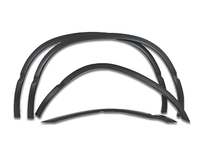 Carrichs Stainless Steel Fender Trim - Matte Black (02-08 RAM 1500 w/ 6.4 ft. Box)