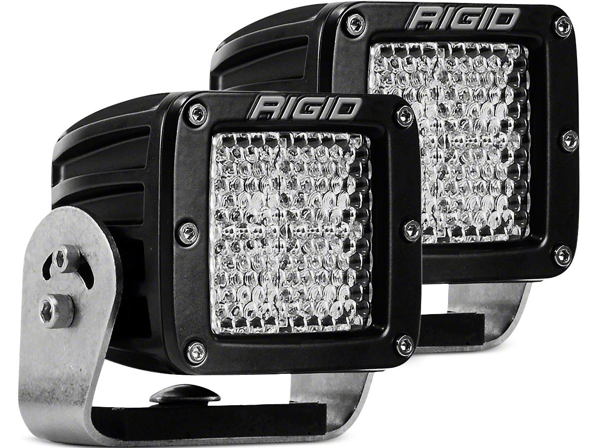Rigid Industries D-Series HD LED Cube Lights - 60 Deg. Diffused Beam - Pair