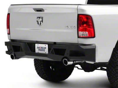 Black Horse Off Road Armour Rear HD Bumper (13-18 RAM 1500)