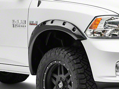 Black Horse Off Road Pocket Style Fender Flares - Matte Black (09-18 RAM 1500, Excluding R/T)