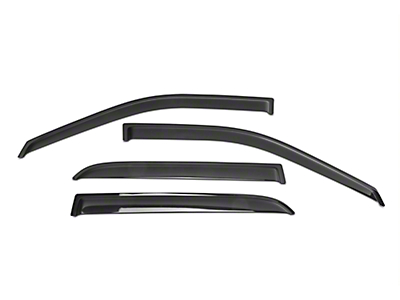 Black Horse Off Road Smoke Rain Guards - Front & Rear (09-18 RAM 1500 Crew Cab)