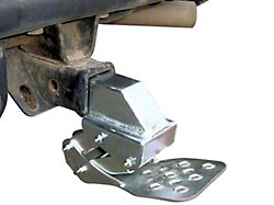 M.O.R.E. Receiver Hitch Hide-A-Step; Silver (Universal; Some Adaptation May Be Required)