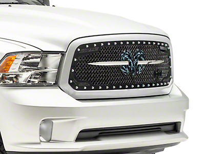 Royalty Core RC2 Twin Mesh Speared RAM Sword Upper Replacement Grille - Black (13-18 RAM 1500, Excluding Rebel)