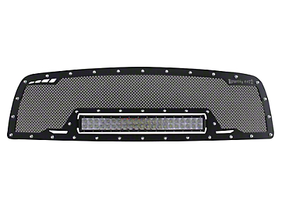 Royalty Core RCRX Race Line Upper Replacement Grille w/ 23 in. LED Light Bar - Satin Black (09-12 RAM 1500)