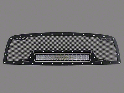 Royalty Core RCRX Race Line Upper Replacement Grille w/ 23 in. LED Light Bar - Black (02-05 RAM 1500)