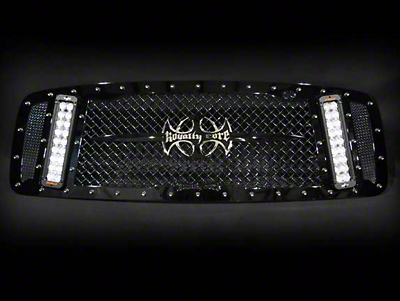 Royalty Core RCX Explosive Upper Replacement Grille w/ Dual 12 in. LED Light Bars - Black (02-05 RAM 1500)