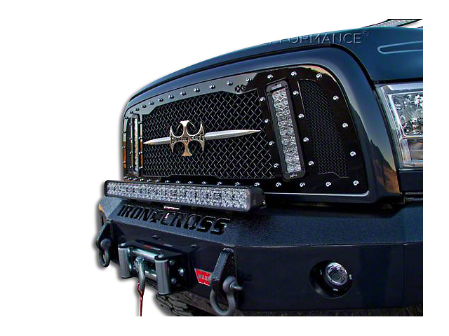 Royalty Core RCX Explosive Upper Replacement Grille w/ Dual 12 in. LED Light Bars - Black (09-12 RAM 1500)