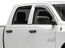 Rugged Ridge Front Window Visors - Matte Black (09-18 RAM 1500 Quad Cab)
