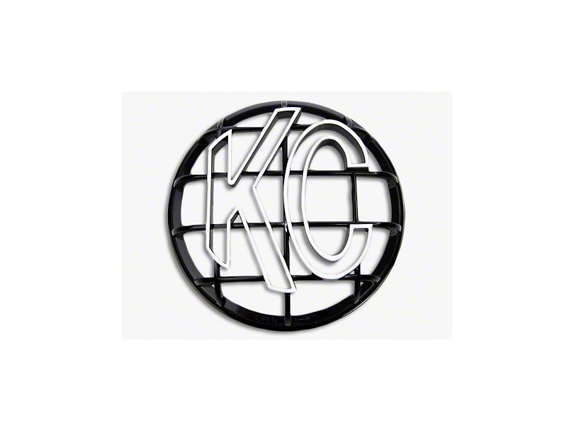 KC HiLiTES 6 in. Round Stone Guard for Apollo Series - Black w/ White KC Logo
