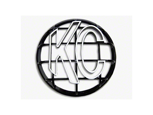 KC HiLiTES 6-Inch Apollo Series Round Light Stone Guard; Black with White KC Logo
