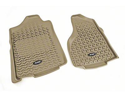 Rugged Ridge All-Terrain Front Floor Liners - Tan (02-18 RAM 1500)