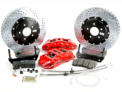 Baer Extreme Plus Front Brake Kit - Red (02-18 RAM 1500, Excluding Mega Cab & SRT-10)