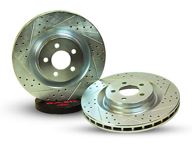 Baer Sport Drilled and Slotted 5-Lug Rotors; Rear Pair (02-10 RAM 1500, Excluding Mega Cab)