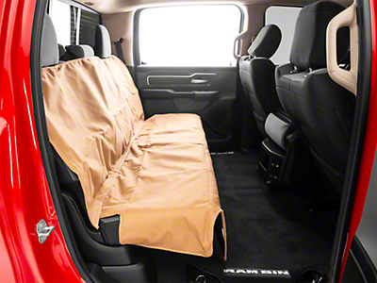 Weathertech 2nd Seat Protector - Tan (09-19 RAM 1500 Crew Cab)