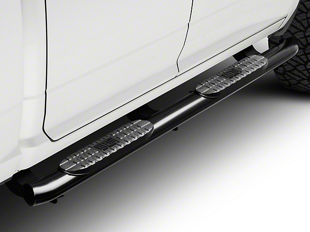 Pro Traxx 4-Inch Oval Side Step Bars; Black (09-18 RAM 1500 Quad Cab, Crew Cab)