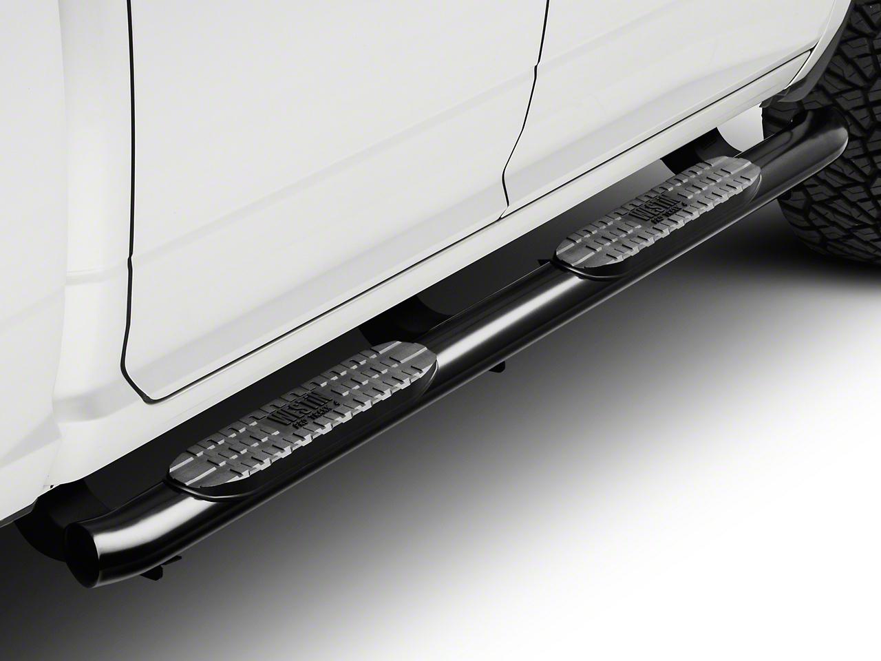 Westin Pro Traxx 4 in. Oval Side Step Bars - Black (09-18 RAM 1500 Quad Cab, Crew Cab)