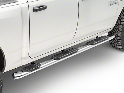 Westin Pro Traxx 5 in. WTW Oval Side Step Bars - Stainless Steel (09-18 RAM 1500 Quad Cab w/ 6.4 ft. Box, Crew Cab w/ 5.7 ft. Box)