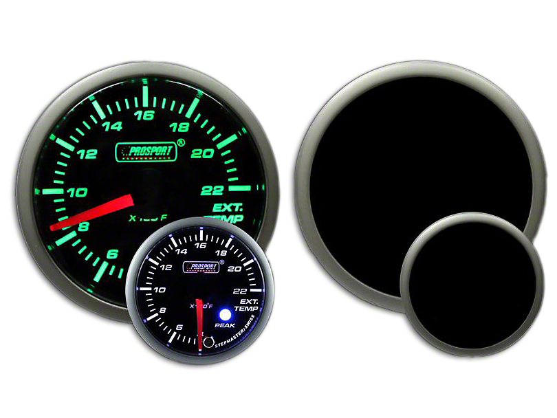 Prosport 52mm Premium Series Exhaust Gas Temperature Premium Boost Gauge; Green/White (Universal Fitment)