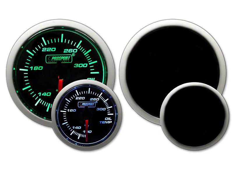 Prosport Dual Color Oil Temperature Gauge - Green/White (02-19 RAM 1500)