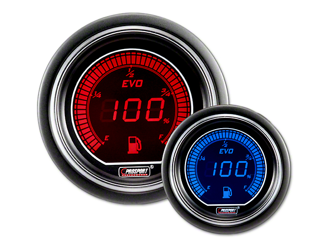 Prosport Dual Color Evo Fuel Level Gauge - Electrical - Red/Blue (02-19 RAM  1500)