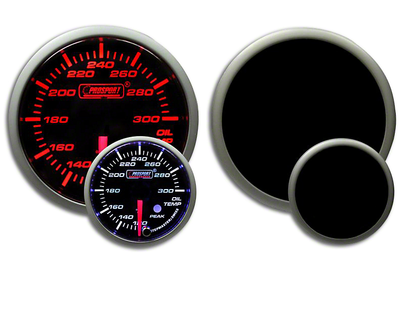 Prosport Dual Color 52mm Premium Oil Temperature Gauge - Amber/White (Universal Fitment)