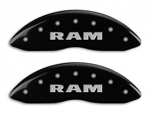 MGP Black Caliper Covers w/ RAM Logo - Front & Rear (02-05 RAM 1500, Excluding SRT-10)