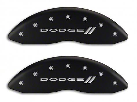MGP Matte Black Caliper Covers w/ Dodge Stripes Logo - Front & Rear (06-10 RAM 1500, Excluding SRT-10)