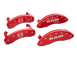MGP Red Caliper Covers with RAM and RAMHEAD Logo; Front and Rear (11-18 RAM 1500)
