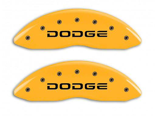 MGP Yellow Caliper Covers w/ Broken Dodge Logo - Front & Rear (06-10 RAM 1500, Excluding SRT-10)