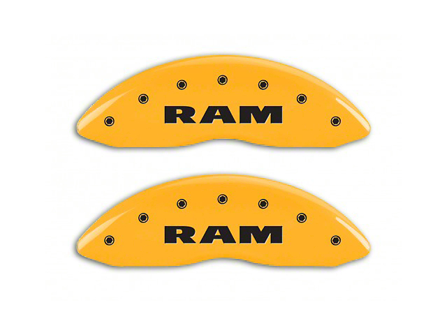 MGP Yellow Caliper Covers w/ RAMHEAD Logo - Front & Rear (06-10 RAM 1500, Excluding SRT-10)