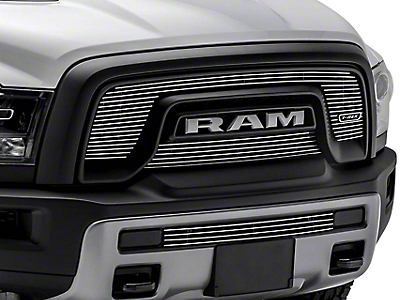 T-REX Billet Series Upper Overlay Grilles - Polished (15-18 RAM 1500 Rebel)