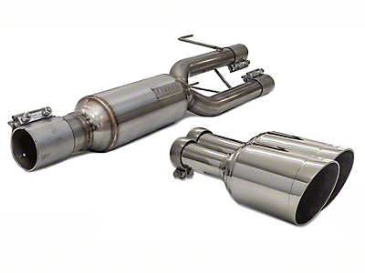 Carven Exhaust Progressive Series Direct Replacement Muffler w/ 5 in. Polished Tips (09-18 5.7L RAM 1500 w/ Factory Dual Exhaust)