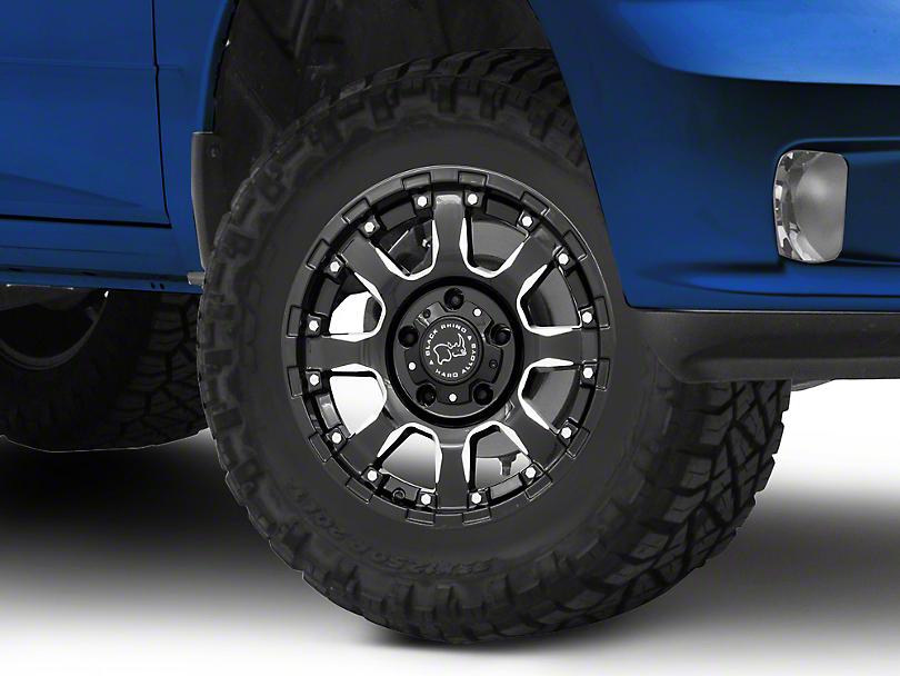 Black Rhino Sierra Gloss Black Milled 5-Lug Wheel - 17x9 +00mm Offset (02-18 RAM 1500, Excluding Mega Cab)